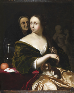 Woman with A Lapdog, Accompanied by a Maidservant