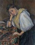 Young Italian Woman at a Table (Jeune Italienne Accoudée)