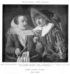 Young man encouraging a girl to smoke and drink