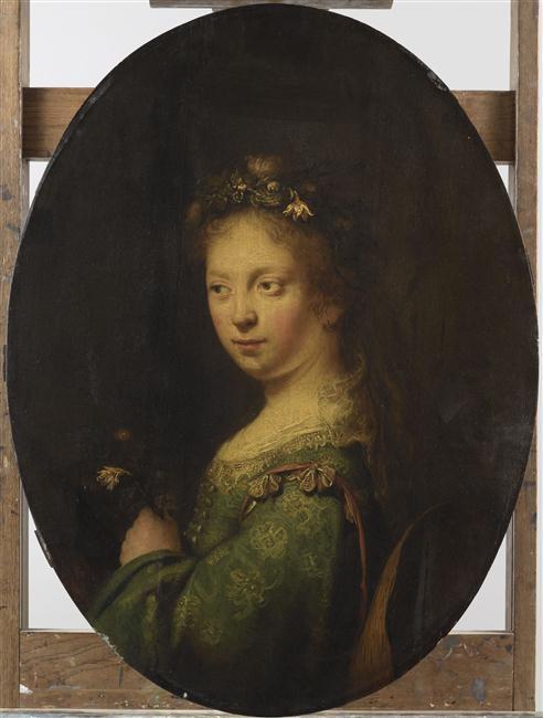 Young Shepherdess as Flora