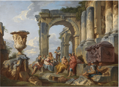 A Capriccio with Saint Peter Preaching to the Romans
