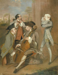A Caricature Group: Sir Charles Turner, Mr. Cook, Mr. John Woodyeare, and Rev. Dr. William Drake