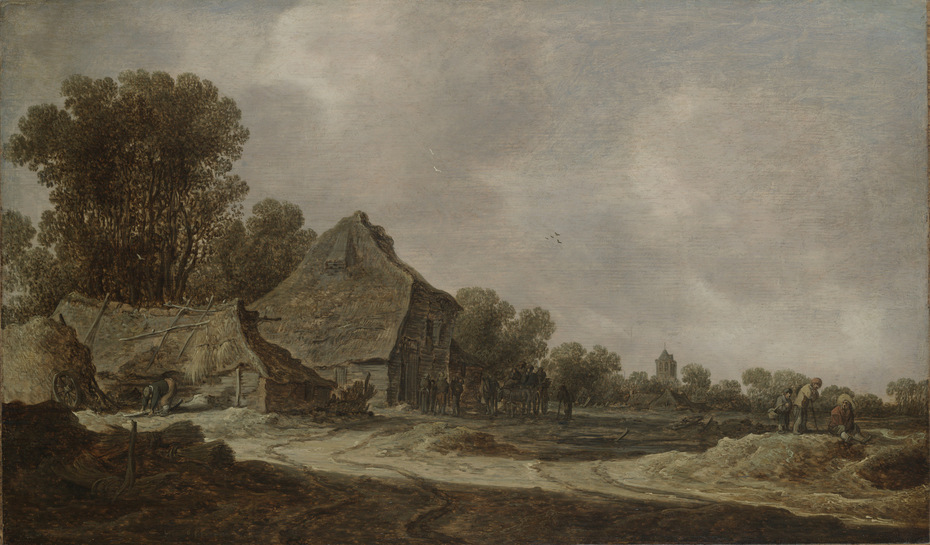 A Sandy Road with ThatchedCottage