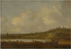 A View of the Rhine near Elten