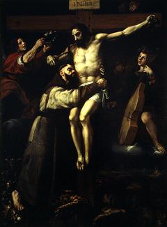 Abrazo de San Francisco al crucificado