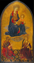 Adoration of the Virgin and Child by Saint John the Baptist and Saint Catherine