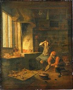 Alchemist in his Laboratory