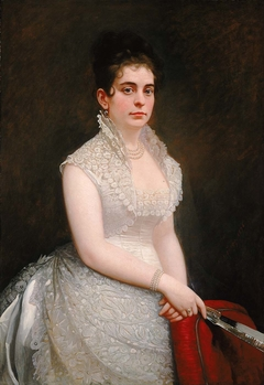 Alice Pike Barney, in Wedding Gown