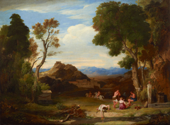 An antique rural scene