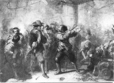 Anno 1639. De With spreekt Tromp na de strijd tegen d'Oquendo toe