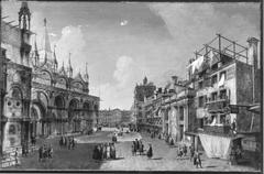 Ansicht der Piazzetta dei Leoni in Venedig