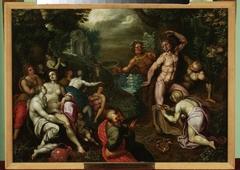 Apollo flaying Marsyas (Ovid, Metamorphoses, VI, 382–400)