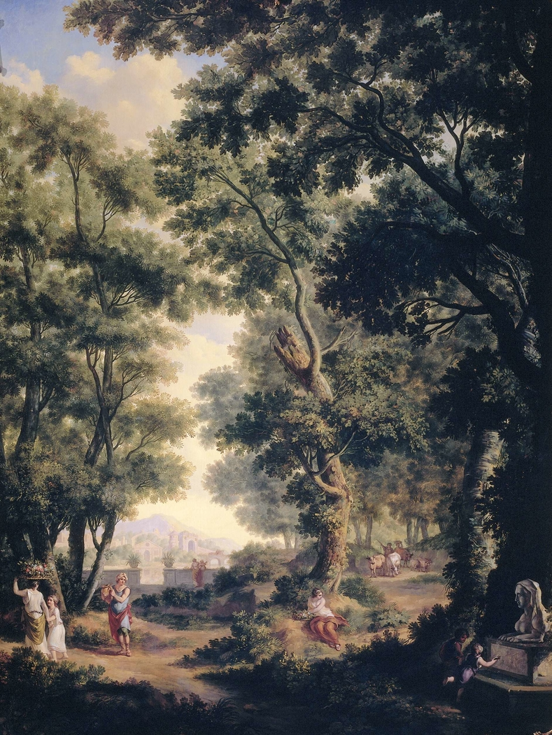 Arcadian Landscape, one of a series of ten murals in the garden room of the main floor of the Amsterdam house Herengracht 524