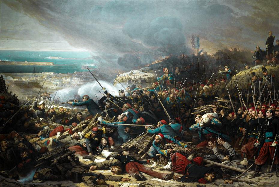 Episode of the Siege of Sebastopol During the Crimean War in 1855