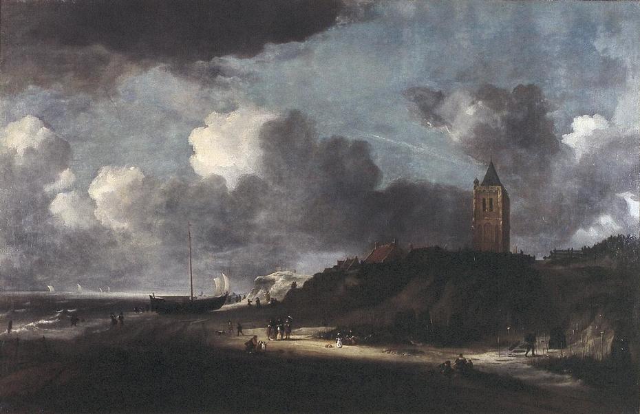 Beach scene, possibly near Egmond