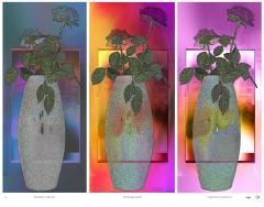 Blue Through To Purple Triptych.