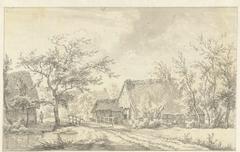 Boerderijen bij Beilen in Drenthe