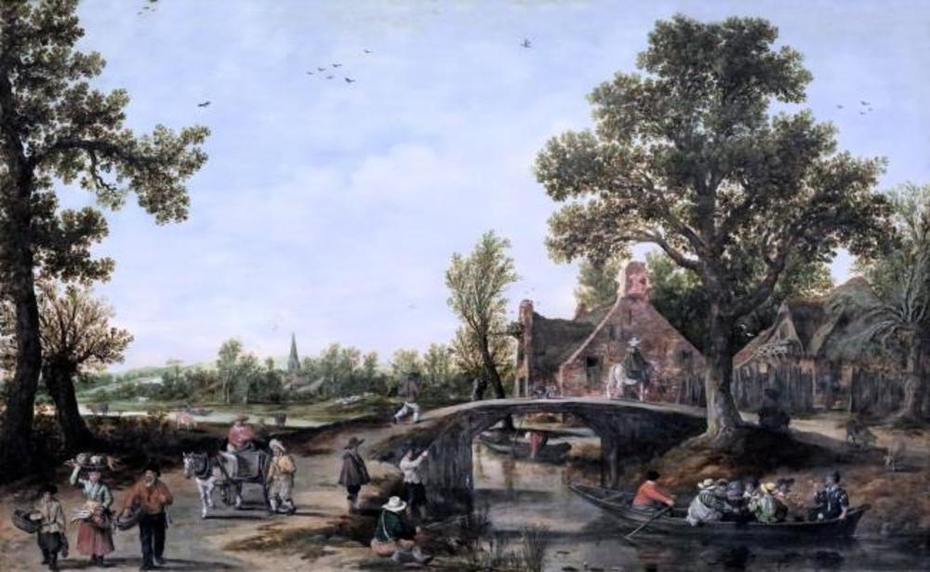 Canal Landscape in a Village