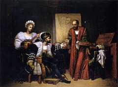 Charles V Picking up Titian's Paintbrush