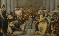 Christ disputing in the Temple