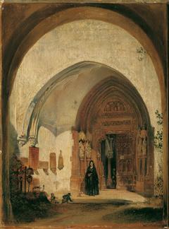 Das Portal der Stiftskirche Nonnberg in Salzburg