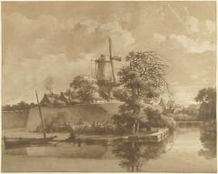 De runmolen bij de Tolsteegpoort te Utrecht