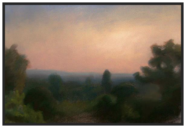 Evening Twilight in Buda