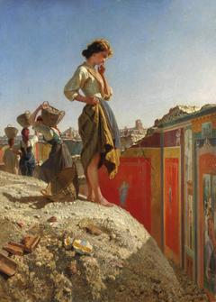 Fanciulla negli scavi di Pompei (parete rossa)