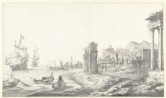 Fantasiegezicht op een zuidelijke haven