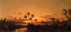 Florida River Scene: Early Evening, After Sunset
