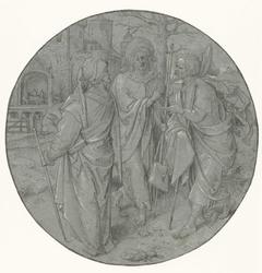 Fragment van een missaal: initiaal met staande evangelist of apostel