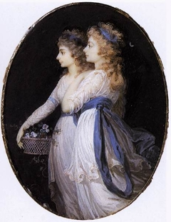 Georgiana, Duchess of Devonshire, with Lady Elizabeth Foster