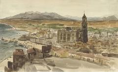 Gezicht op Malaga vanuit het Noorden