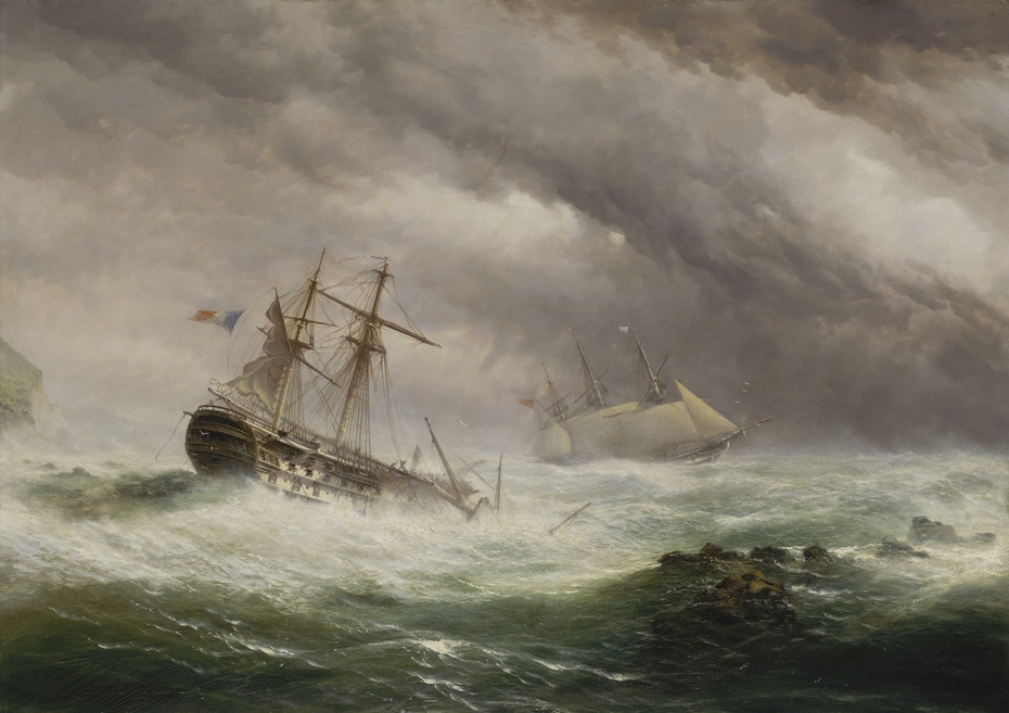 HMS Endymion rescuing a French two-decker