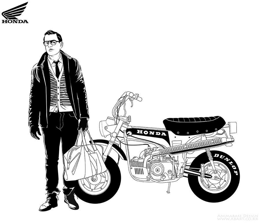 Honda Bike man
