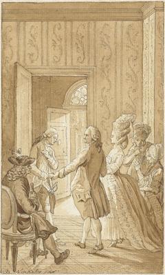 Illustratie voor het toneelstuk Kleon van W.H. Sels