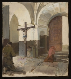 In the church porch