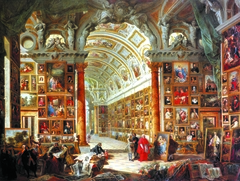 Interior of a Picture Gallery with the Collection of Cardinal Silvio Valenti Gonzaga