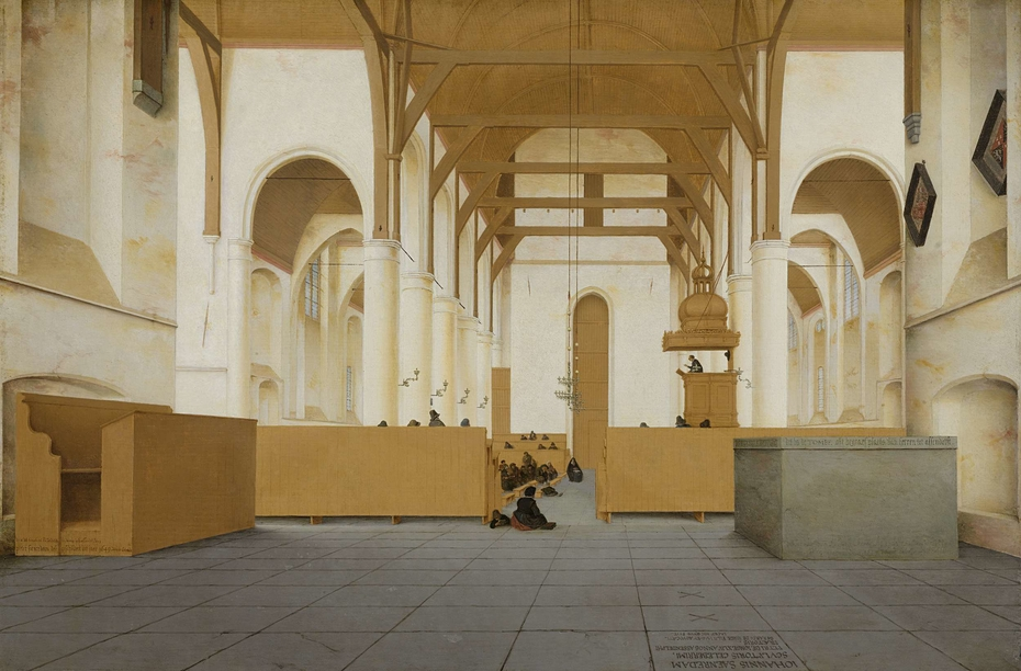 Interior of the Sint-Odulphuskerk in Assendelft