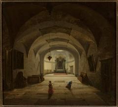 Interior of the subterranean chapel