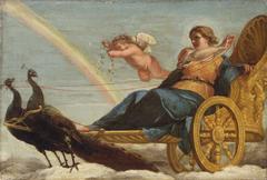 Juno auf dem Pfauenwagen