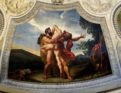La Terre. Combat d'Hercule et d'Antée
