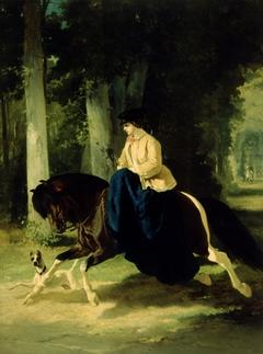 Mademoiselle de Mossellmann Riding in the Bois de Boulogne, Paris