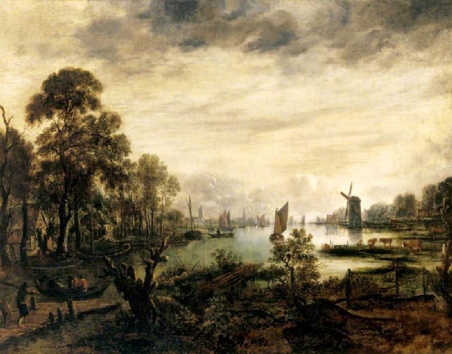 Moonlit Riverscape