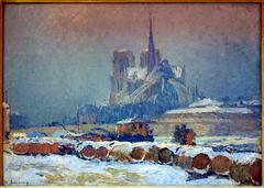 Notre-Dame de Paris par temps de neige