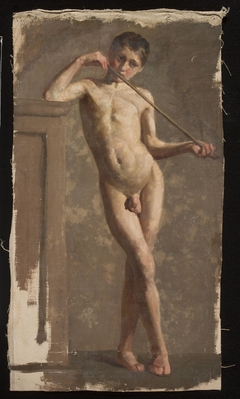 Nude of a standing boy