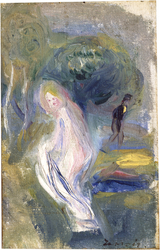 Nude with Figure in Background