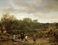 Peasants playing Skittles