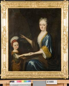 Petronella van Oosterwijk (1674-1710), echtgenote van Johannes van der Mersch, met een kind