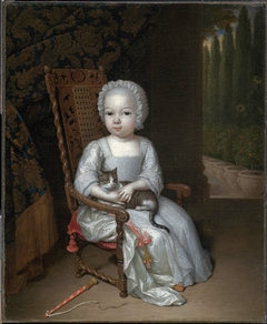 Portrait of a Young Girl Holding a Cat